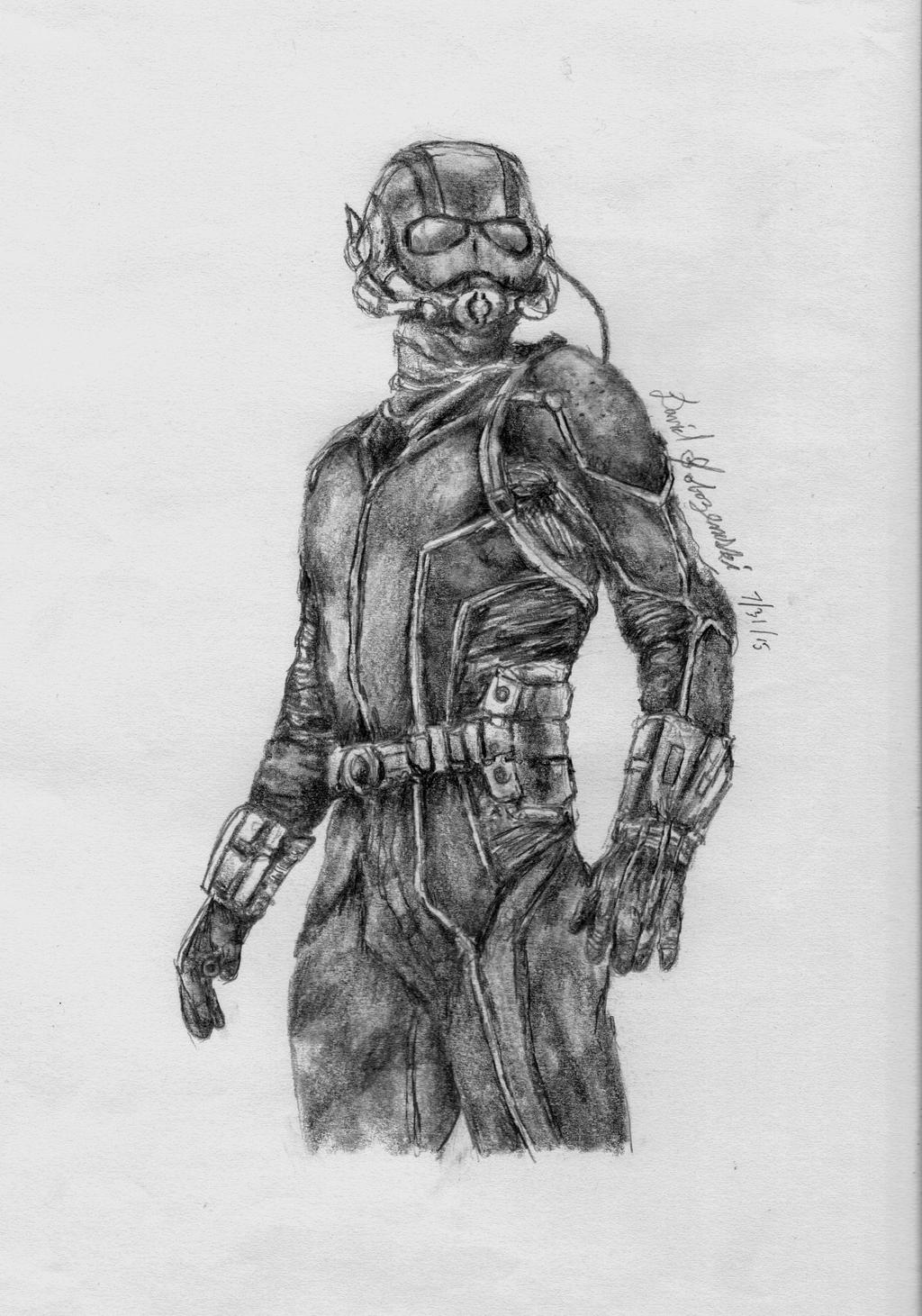 ant man graphite drawing by davidsobo on deviantart