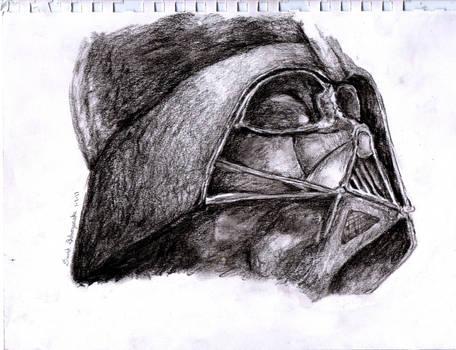 Darth Vader - Charcoal Portrait/Drawing