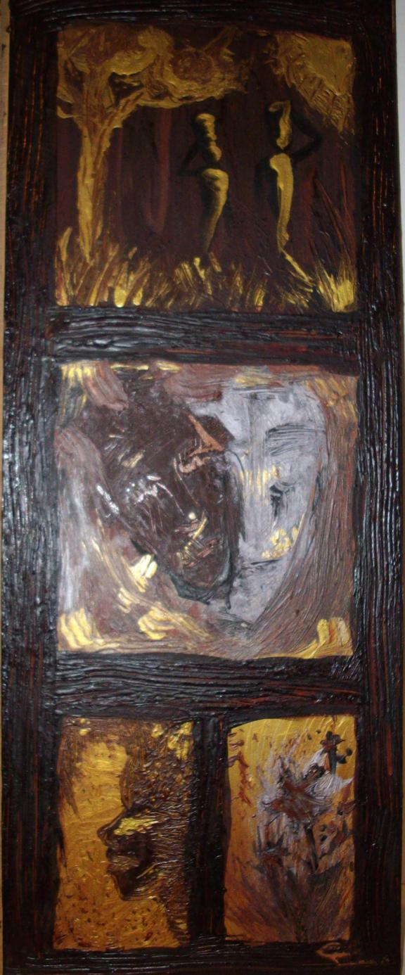 peinture sur bois africaine by zita52 on deviantart. Black Bedroom Furniture Sets. Home Design Ideas