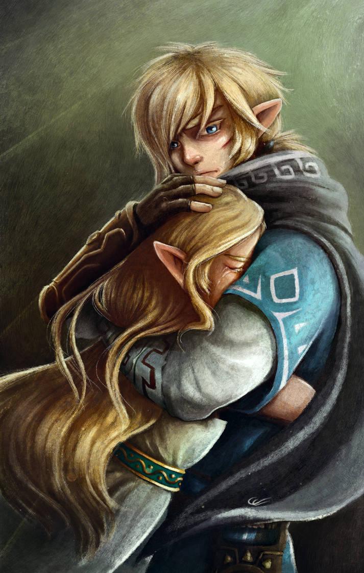 I won't let them make you cry again-Zelda BOTW by Zita52