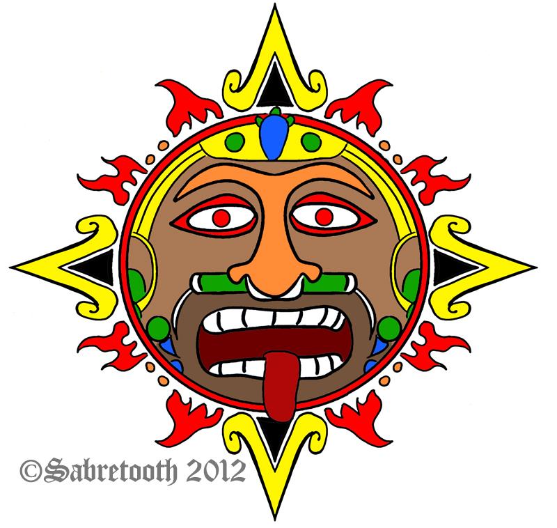 Mayan Sun Flat By Sabretooth On Deviantart