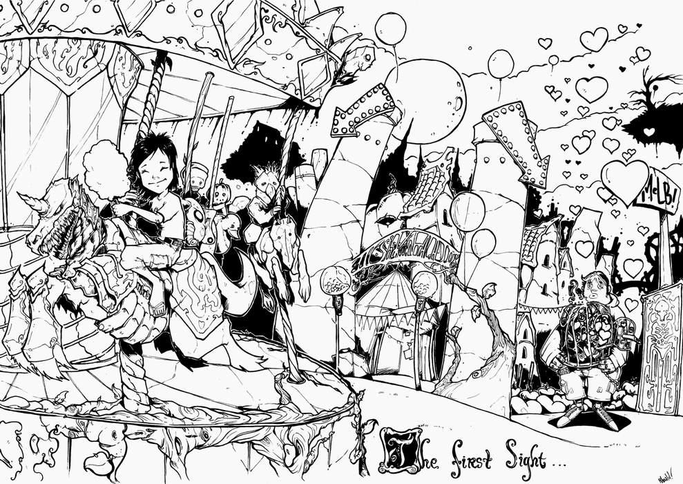 merry-go-round-heart.. by pumpkinbear