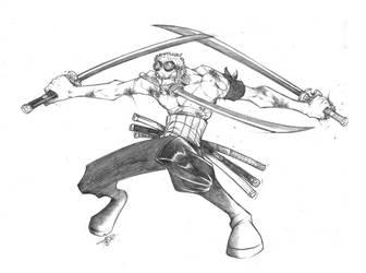 RoRonoa Zorro from One Piece by pumpkinbear