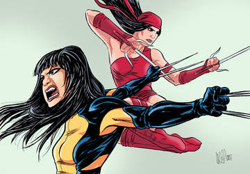 Wolverine and Elektra by Paterdixit