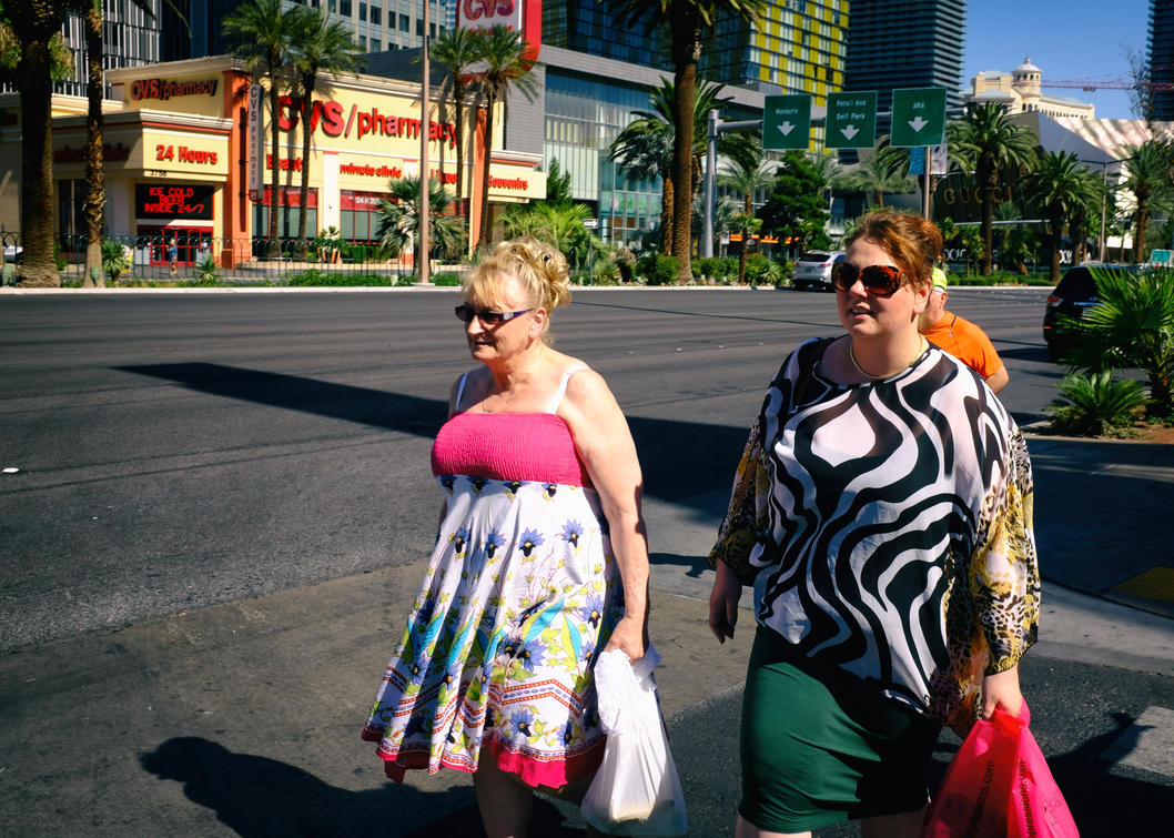Mother/Daughter Strip Walking by PatrickMonnier