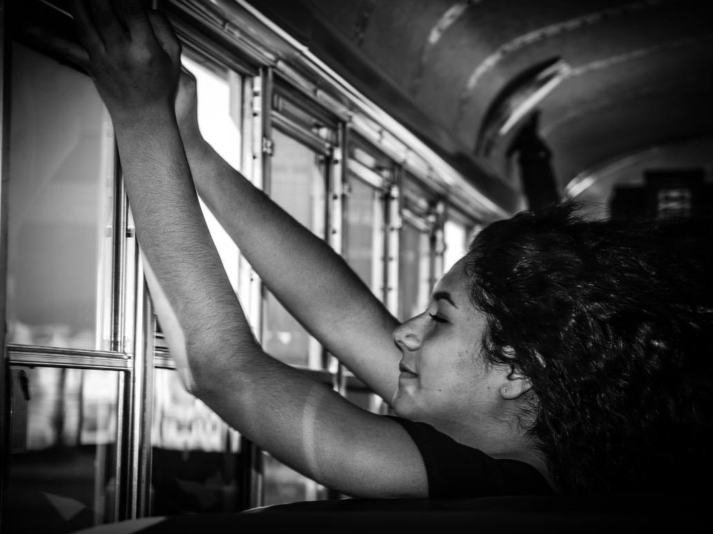 Windy Bus Ride by PatrickMonnier