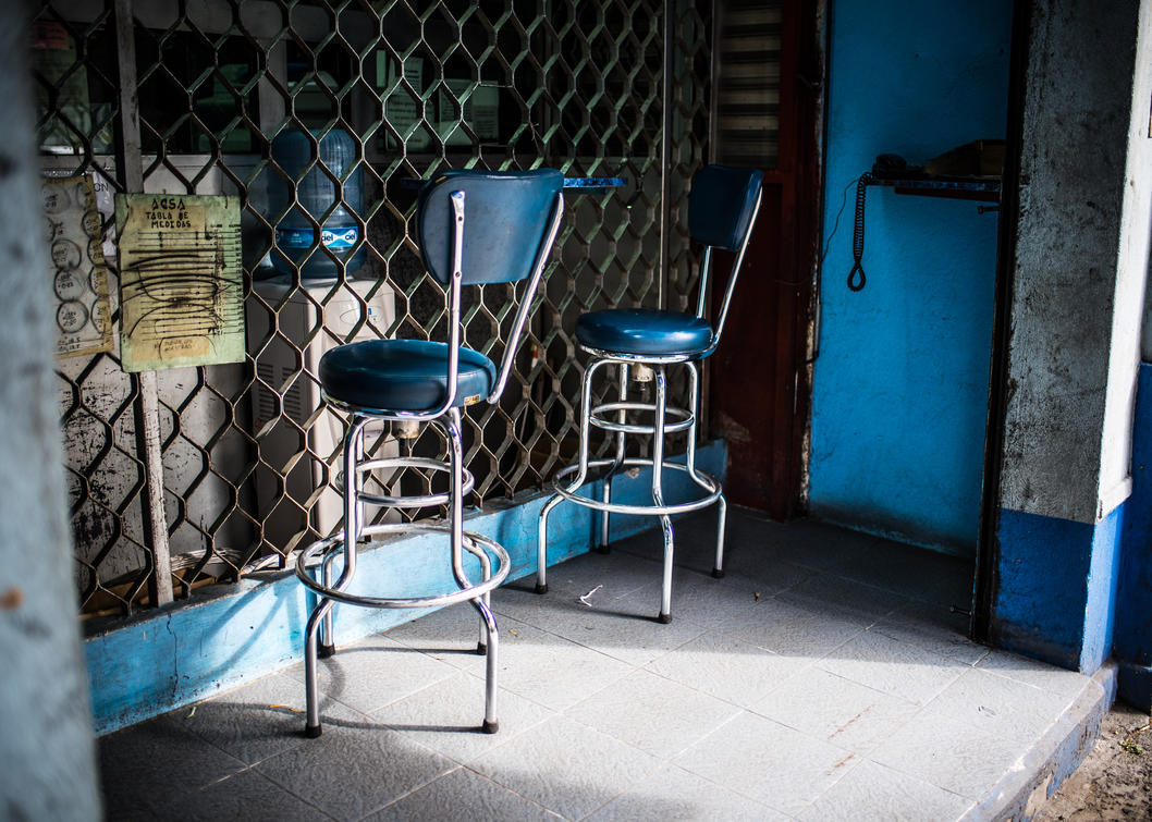 Blue Chairs by PatrickMonnier