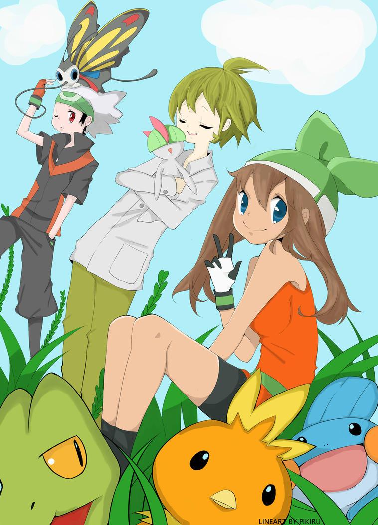 Pokemon Brendan Wally May By Sakura Hanamoto On Deviantart