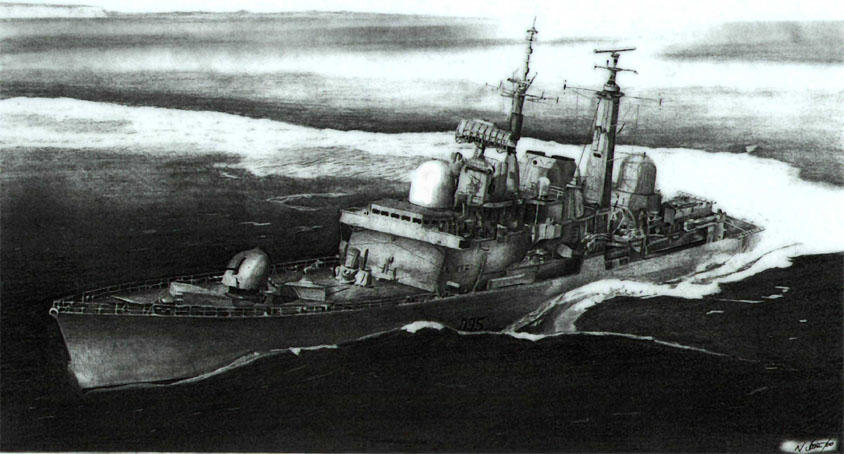 Navy Warship Sketch by angel1592