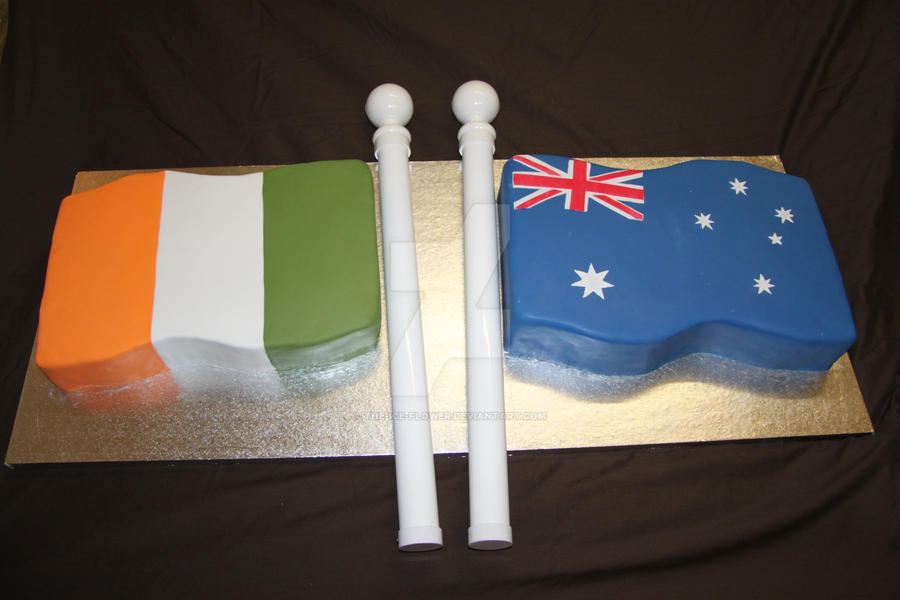 Australian Irish Flag Cake by The-Ice-Flower