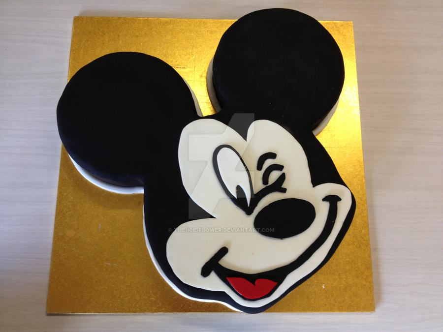 Mickey Mouse Cake by The-Ice-Flower