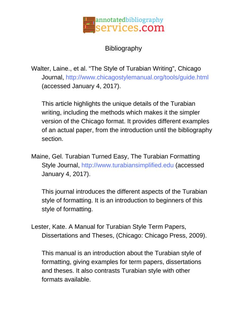 Turabian dissertation bibliography