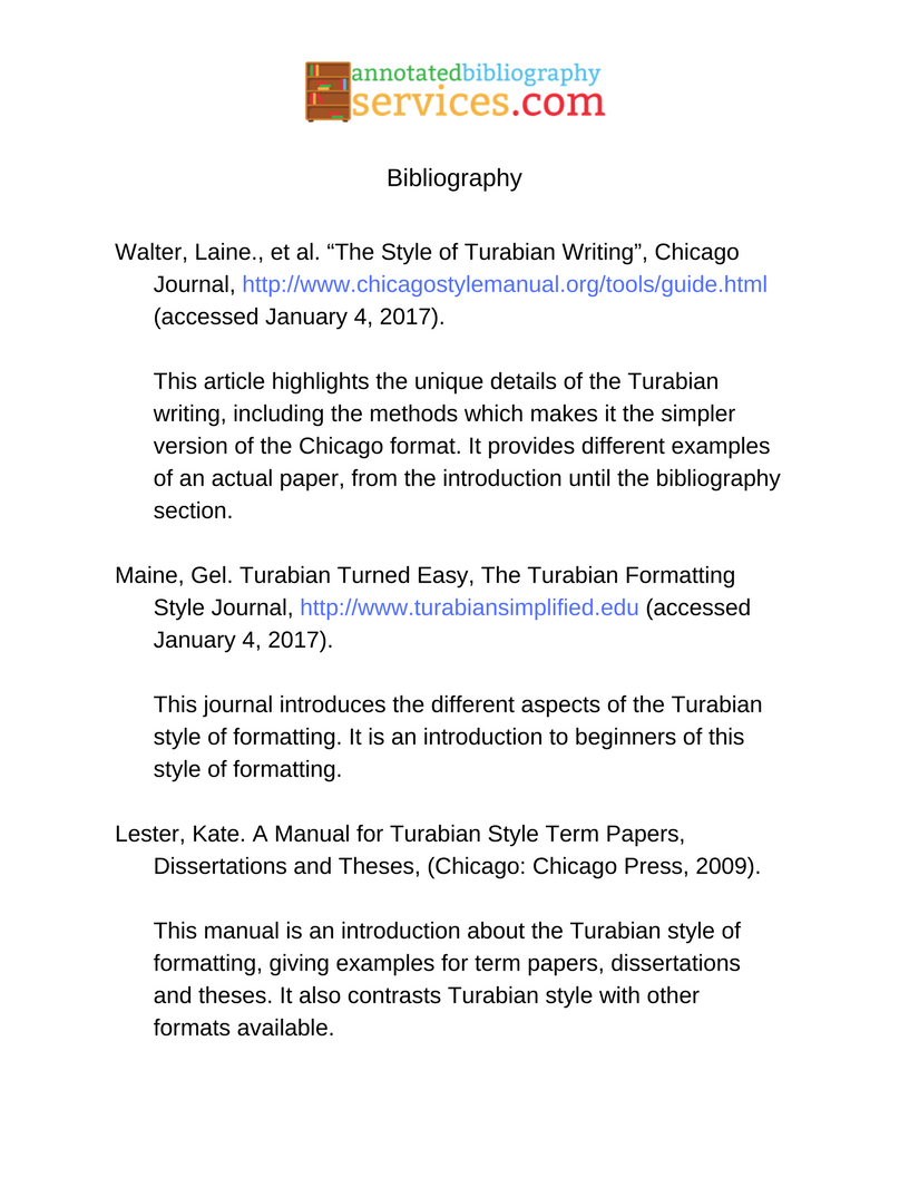 ... Annotated Bibliography Example Turabian By Anno Bibliography