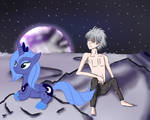 Luna and Kaworu in teh moon