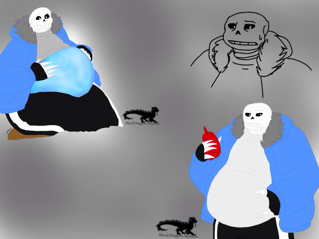 Undertale Chubby Sans Sketches Colored By Blackdragon – Dibujos Para