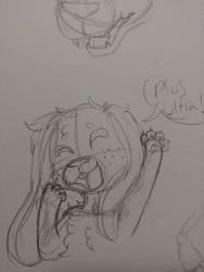 Bunny Deku Sketch by ChristyHusky