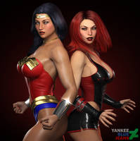 Wonder Woman and Bloodrayne: The Crimson Bough by YankeeBlueJeans