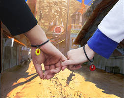 Naruto and hinata bouncing hand by ducmu