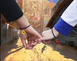 Naruto and hinata bouncing hand