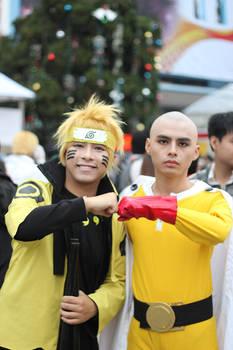 naruto and saitama (friend)