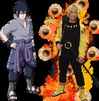 Naruto and Sasuke by ducmu