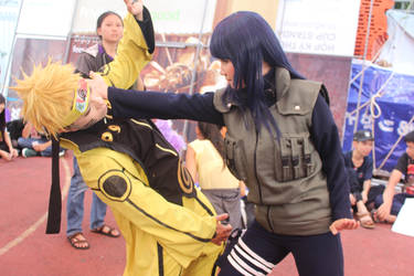 naruto and hinata fighting