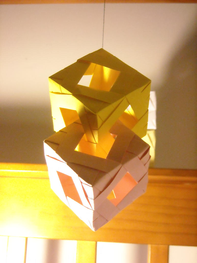 Origami Modular Cube Joined by AvatarIcarus on DeviantArt - photo#35