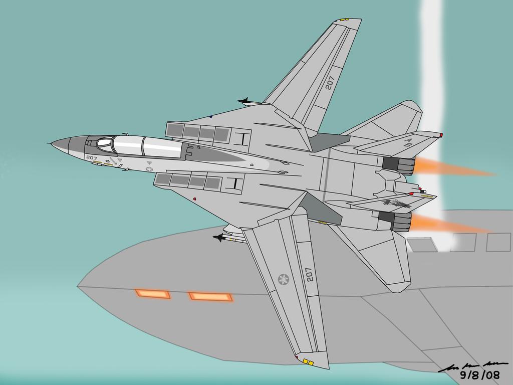 Midnight Sun - F-14D Tomcat by BoggeyDan