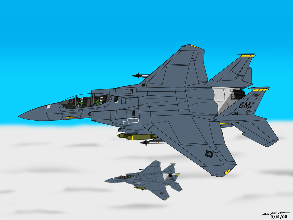 F-15E - Garuda Team by BoggeyDan