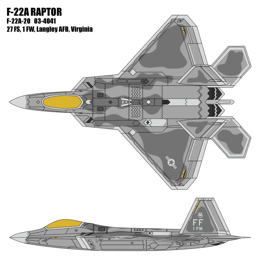 F-22A Raptor - 1st FW by