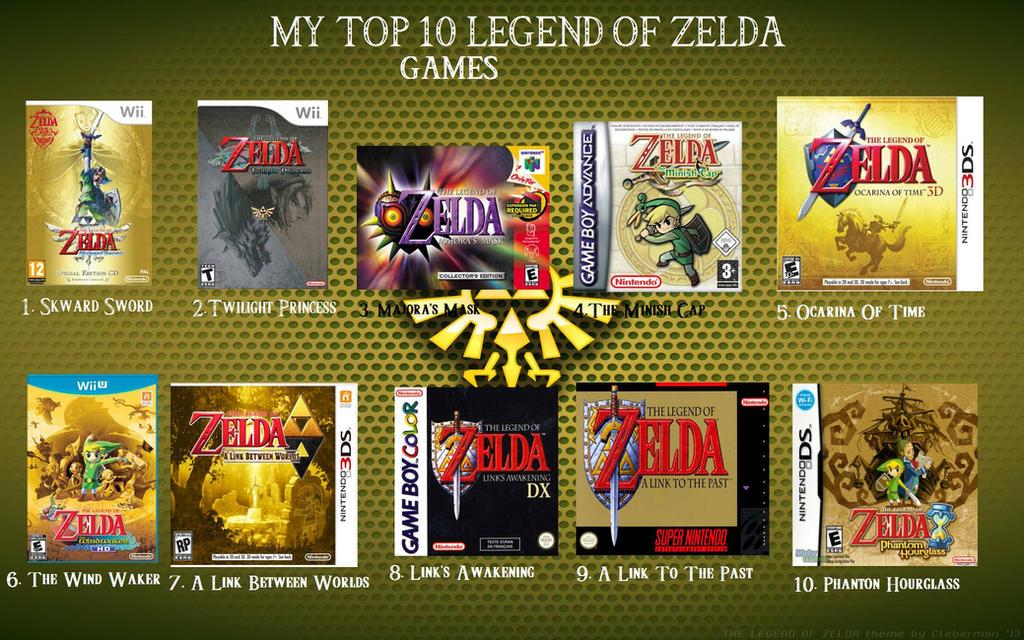 My Top 10 Legend of Zelda Games
