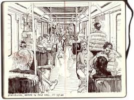 Undead Subway (Barcelona) by xabiersagasta