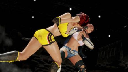 Mila VS Honoka- Punch out (Doa6) by keller88