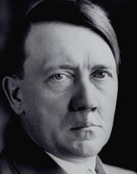 Adolf Hitler moustacheless