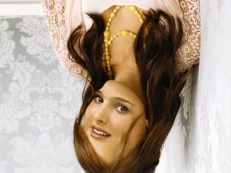 Natalie Portman upsidedown