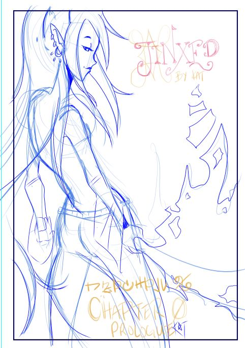 Jinxed C0 Splash page blue pencil by this-is-vegapunk