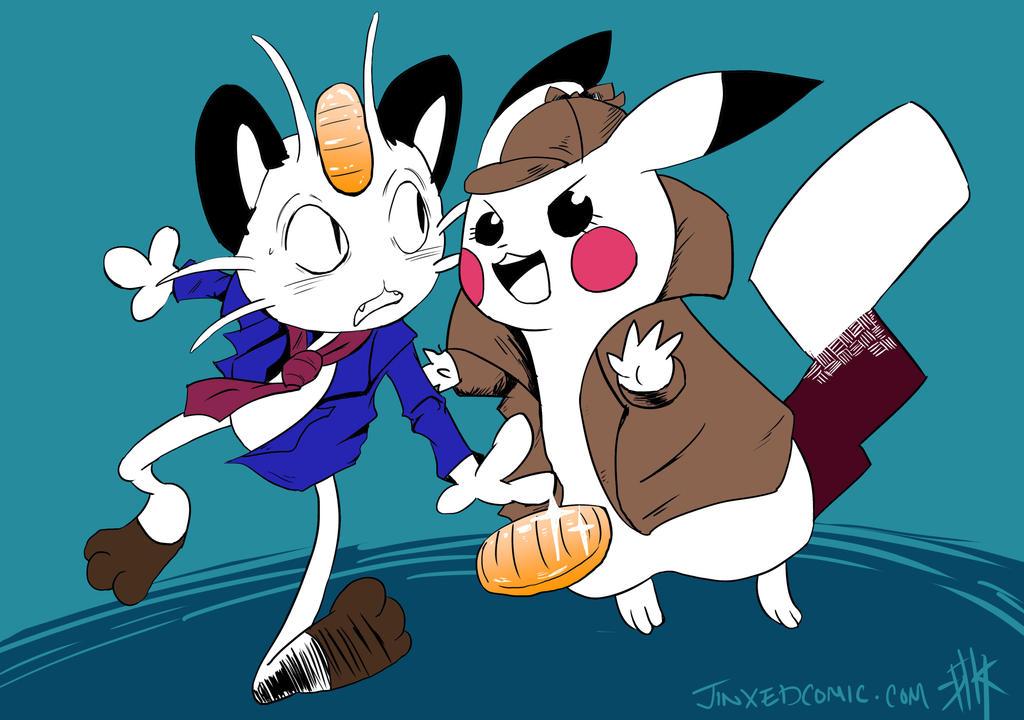 Pikagata and Meoth the Third by Jinxedcomic