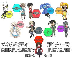 Mekakucity Actors by Kurai-Kogami24