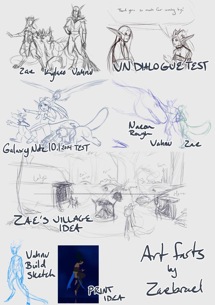 Art Dump by Zaebrael