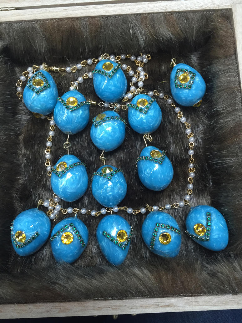 Quail Egg Jewelry Set by Zaebrael