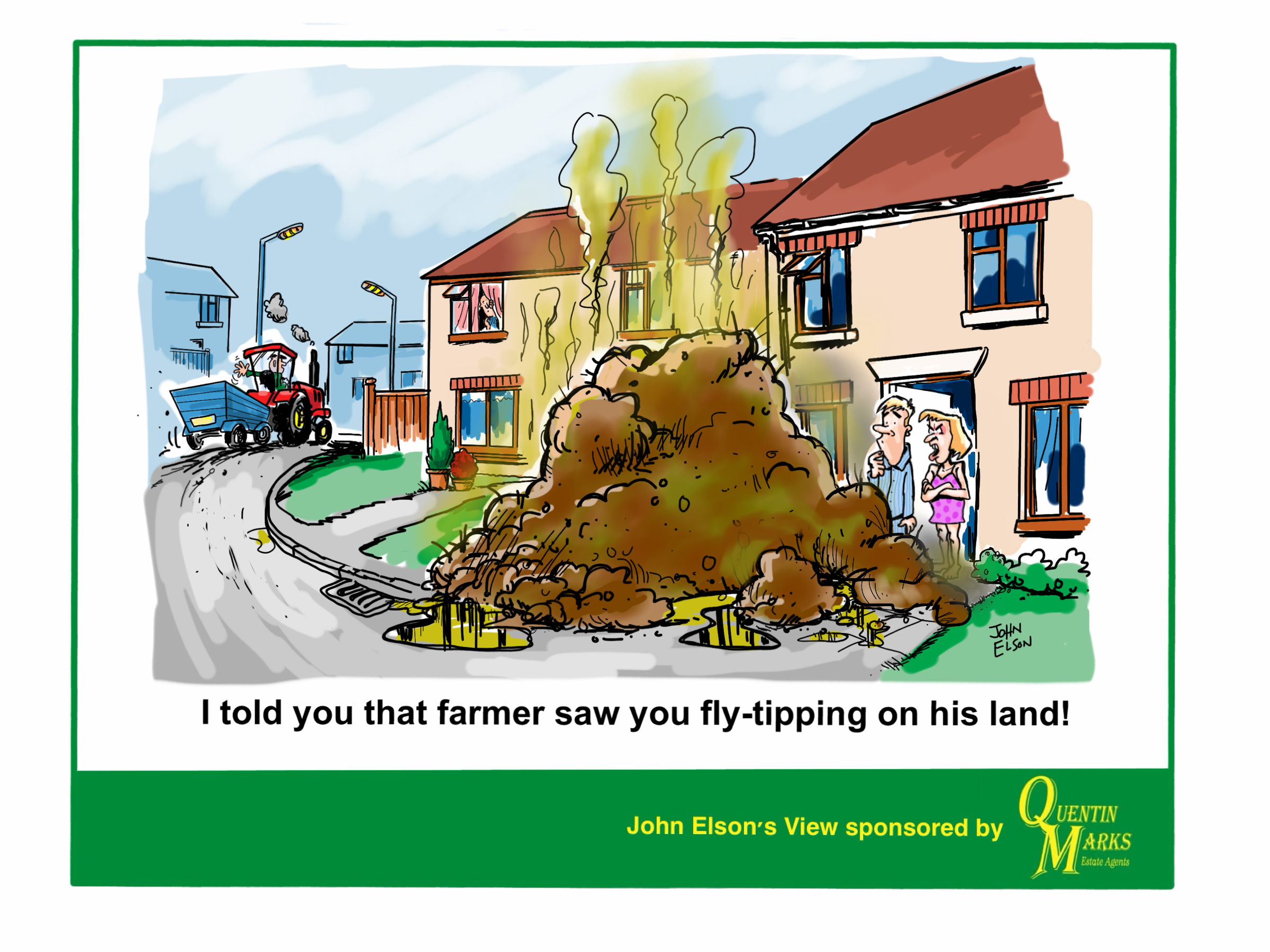 Image result for fly tipping cartoon