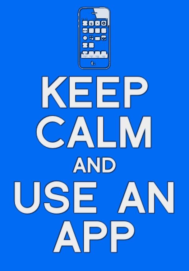 Keep calm app by bronzeathlete on deviantart