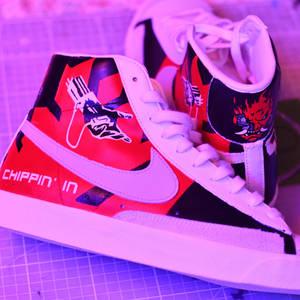 Chippin in Nike blazers