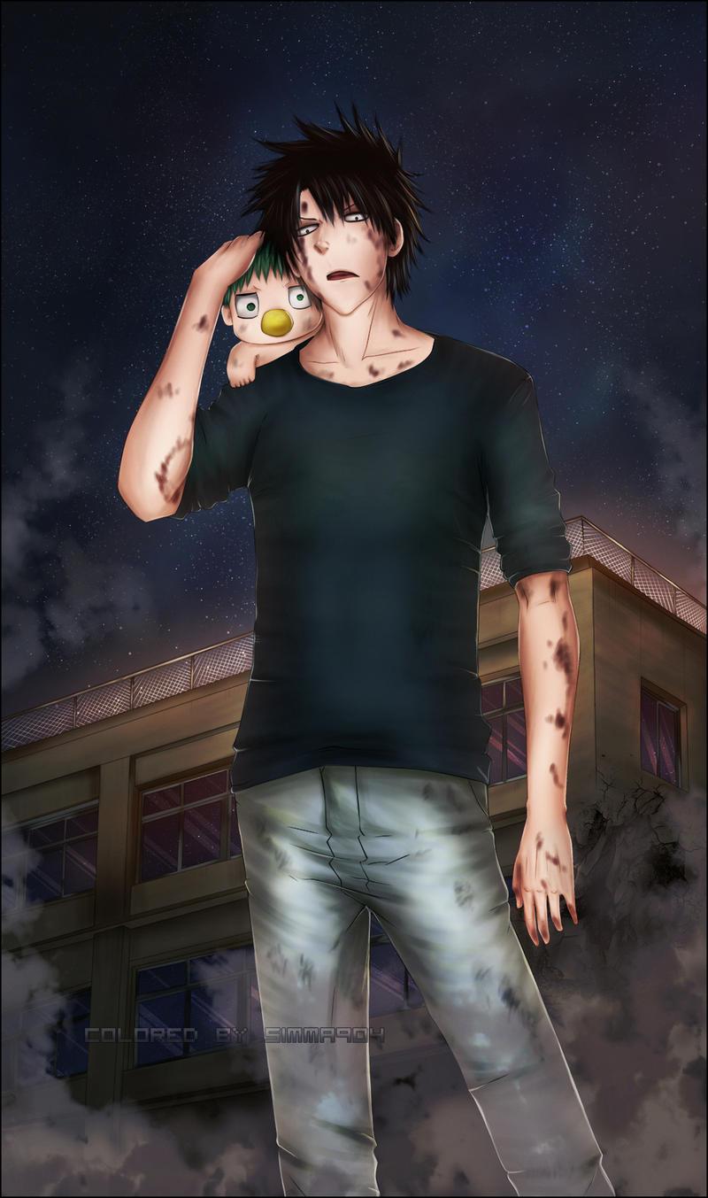 Beelzebub Baddest father-son combo - colored by CoatlAkuma
