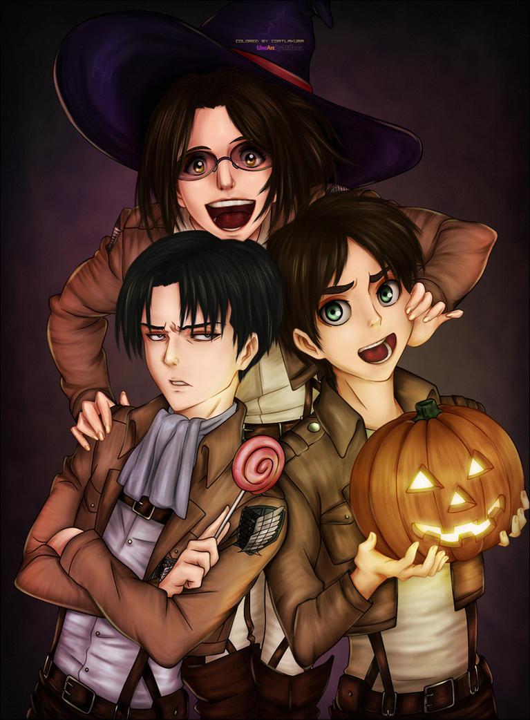 SnK Halloween - colored by CoatlAkuma