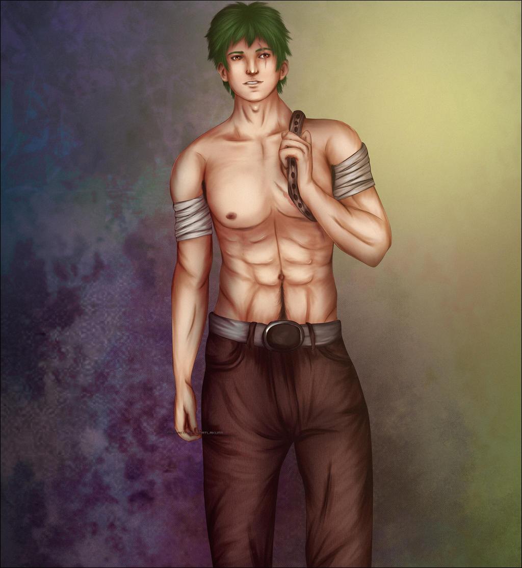 OC Nathaniel - colored by CoatlAkuma