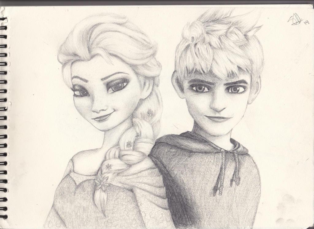 Эльза и джека рисовать