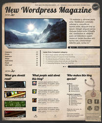 New Wordpress Magazine Theme