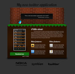 Twitter App Website Design