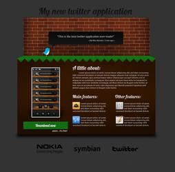 Twitter App Website Design
